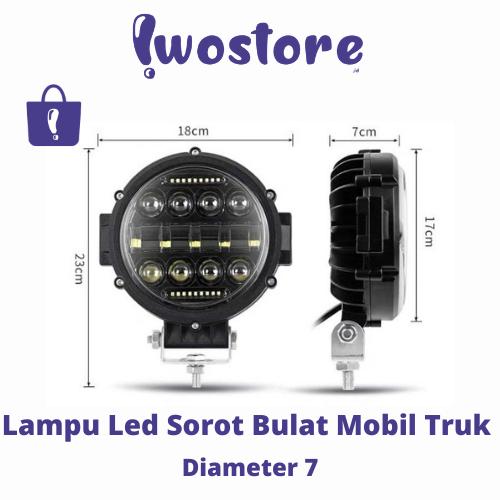 Lampu LED Truk dan Mobil Murah Sorot 7 Diameter 7