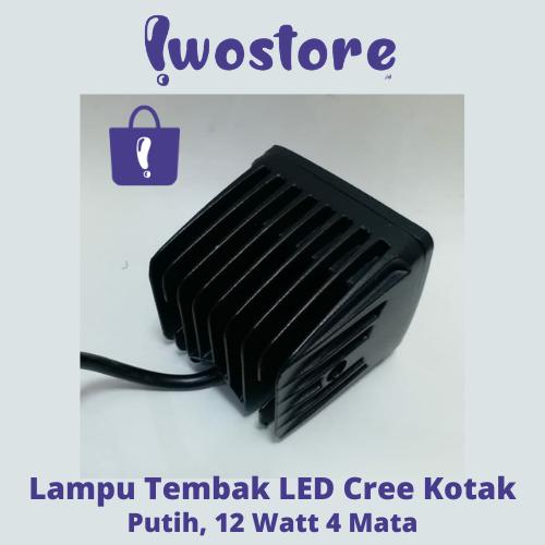 Jual Lampu Tembak LED Cree Kotak 12 Watt 4 Mata